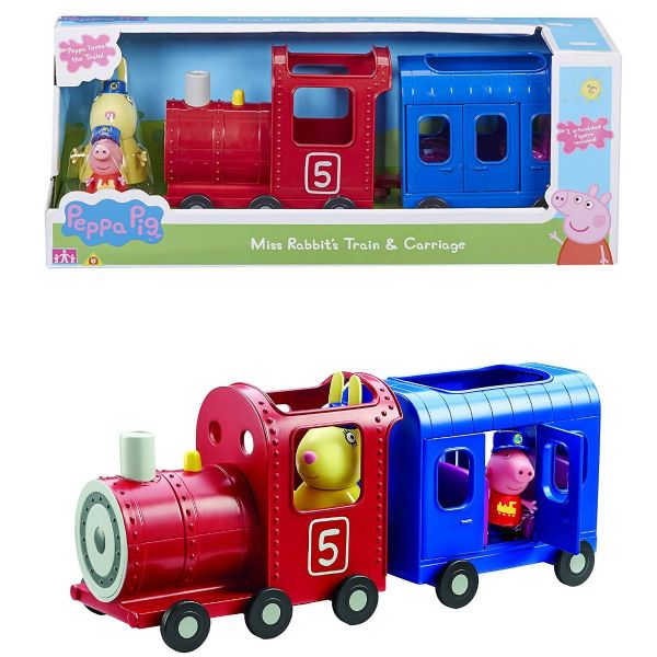 Peppa Pig Miss Rabbits Train and Carriage Playset Toy With Figures